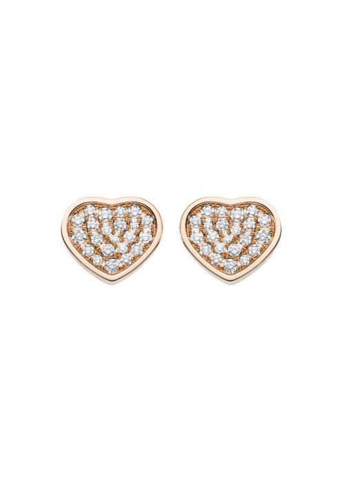 Chopard Happy Hearts Earrings Rose Gold - Diamond