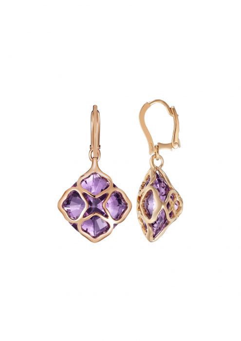 Chopard Imperiale Cocktail Earrings Rose Gold - Amethyst