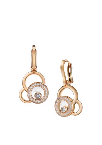 Chopard Happy Dreams Earrings Rose Gold - Diamond