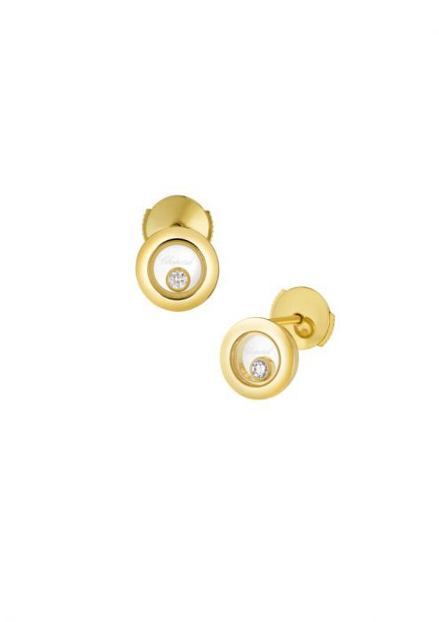 Chopard Happy Diamonds Icons Ear Pins Yellow Gold - Diamond