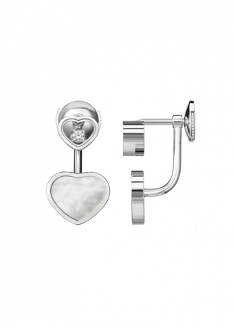 Chopard Happy Hearts Earrings White Gold Diamond - MOP