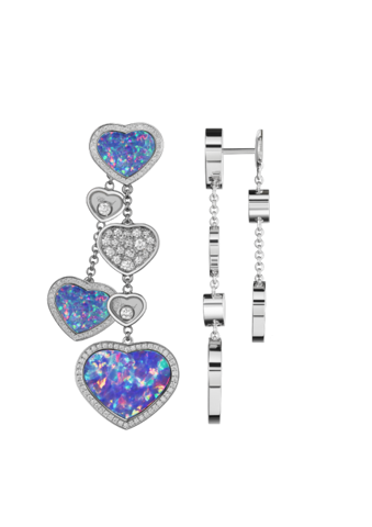 Chopard Happy Hearts Earrings White Gold Diamond - Opal