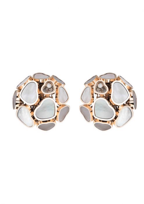Chopard Happy Hearts Earclips Rose Gold Diamond - MOP