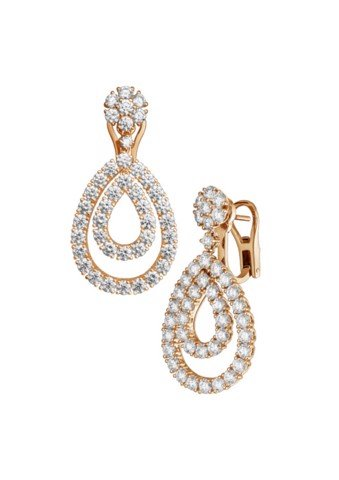Chopard  L'heure Du Diamant Earrings Rose Gold Diamonds