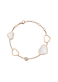 Chopard Happy Hearts Bracelet Rose Gold, Diamond and Natural MOP