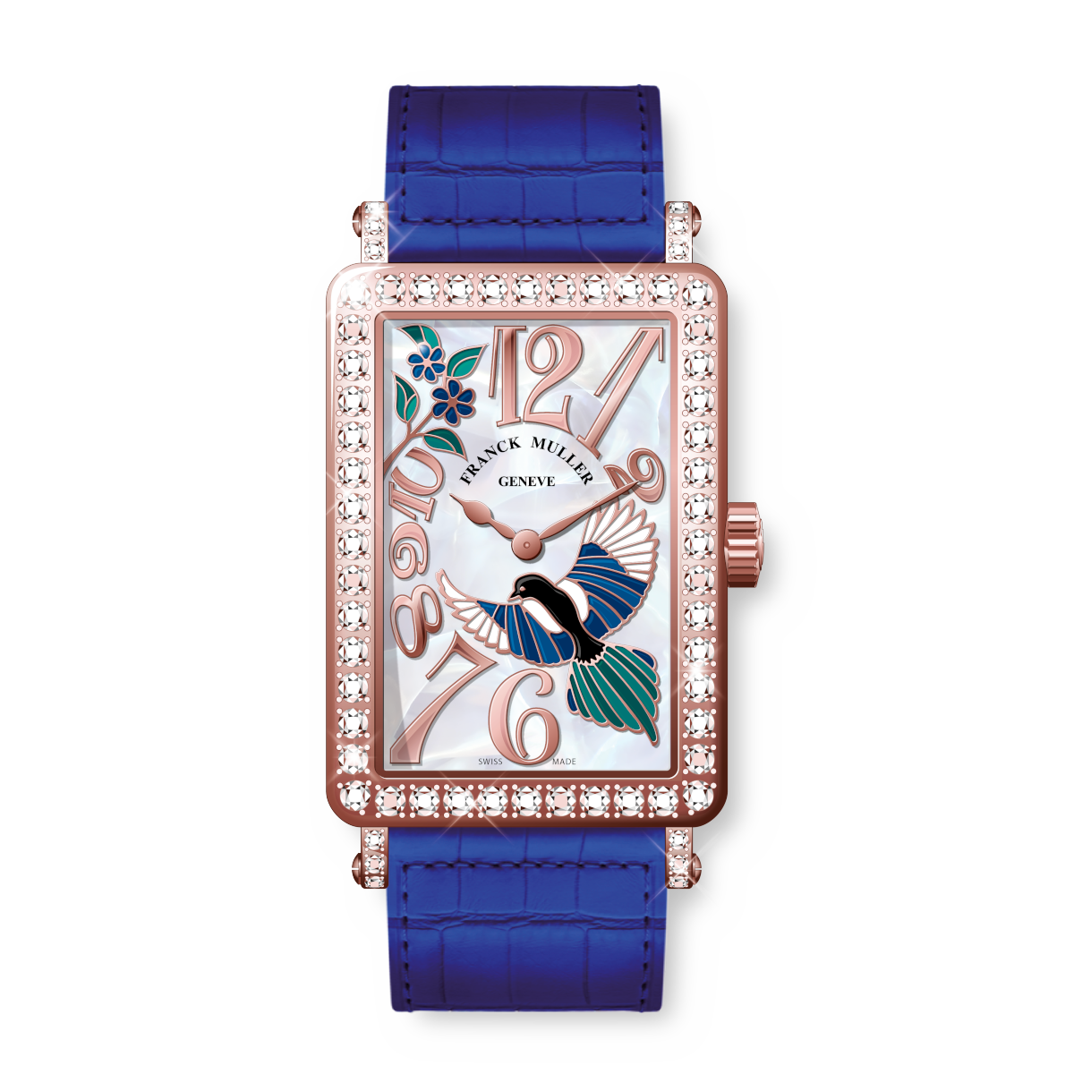 Franck Muller Long Island Happy Magpie Rose Gold