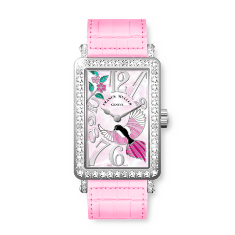 Franck Muller Long Island Happy Magpie Steel & White Gold