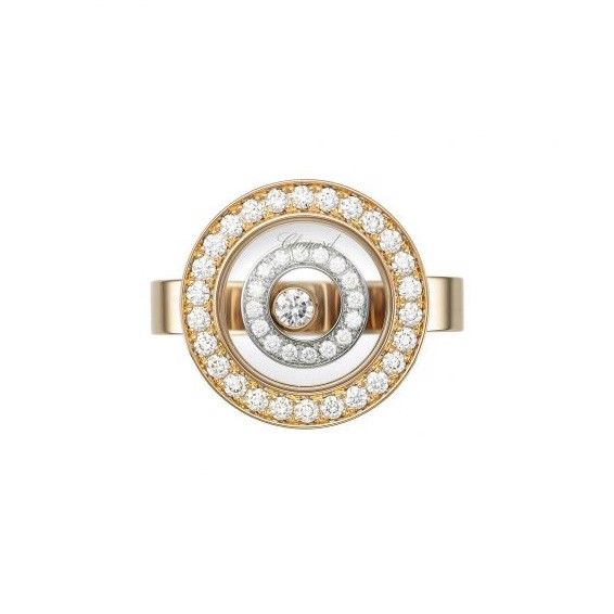 Chopard Happy Spirit Ring Rose-White Gold and Diamond