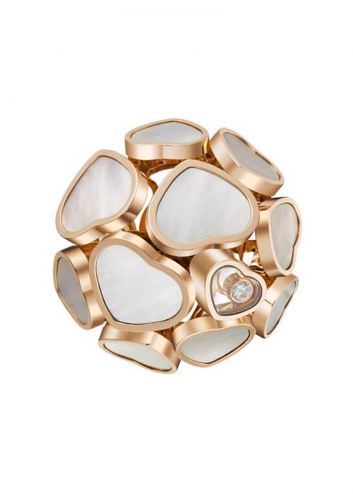Chopard Happy Hearts Ring Rose Gold and Nature Mother-Of-Pearl