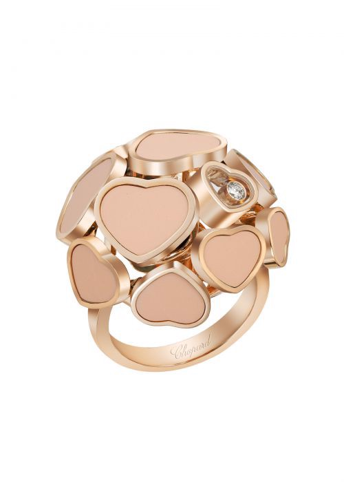 Chopard Happy Hearts Ring Rose Gold and Rosé Stone