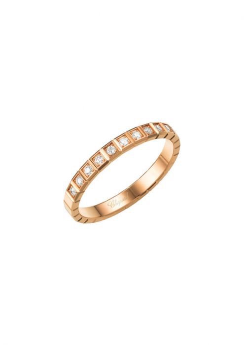 Chopard Ice Cube Pure Ring Rose Gold and Diamond