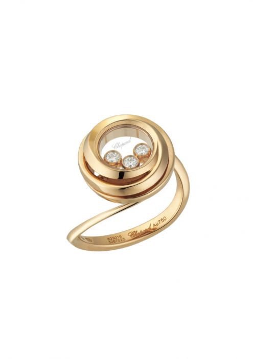 Chopard Happy Emotions Ring Rose Gold and Diamond