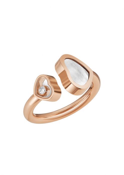 Chopard Happy Hearts Ring Rose Gold and Natural Mother-of-pearl