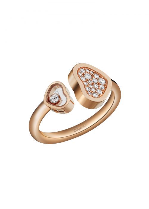 Chopard Happy Hearts Ring Rose Gold and Diamond