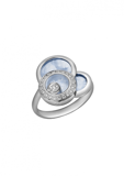 Chopard Happy Dreams Ring White Gold, Diamond and Blue Mother-of-pearl