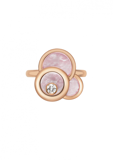 Chopard Happy Dreams Ring Rose Gold, Diamond and Pink Mother-of-pearl