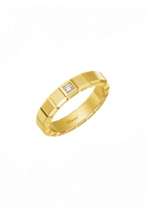 Chopard Ice Cube Ring Yellow Gold and Diamond