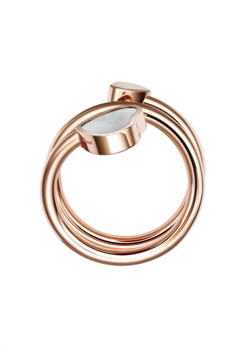 Chopard Happy Hearts Twist Ring Rose Gold and Mother-of-pearl