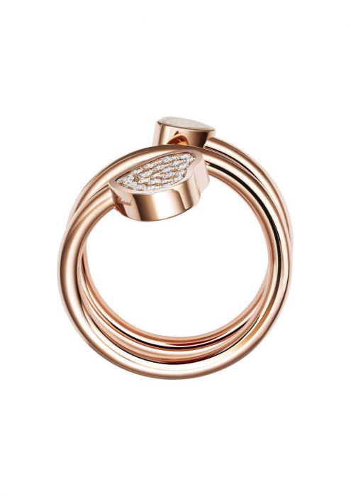 Chopard Happy Hearts Twist Ring Rose Gold and Diamond
