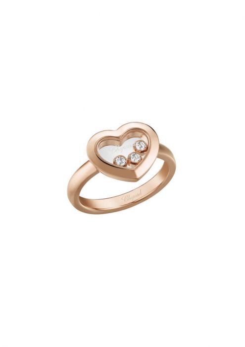 Chopard Happy Diamonds Icons Ring Rose Gold and Diamond