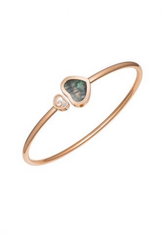 Chopard Happy Hearts Bangle Rose Gold Diamond - Natural Black Tahitian MOP