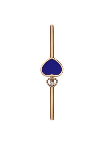 Chopard Happy Hearts Bangle Rose Gold Diamond - Blue Stone