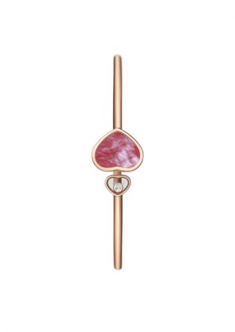 Chopard Happy Hearts Bangle Rose Gold Diamond - Pink MOP