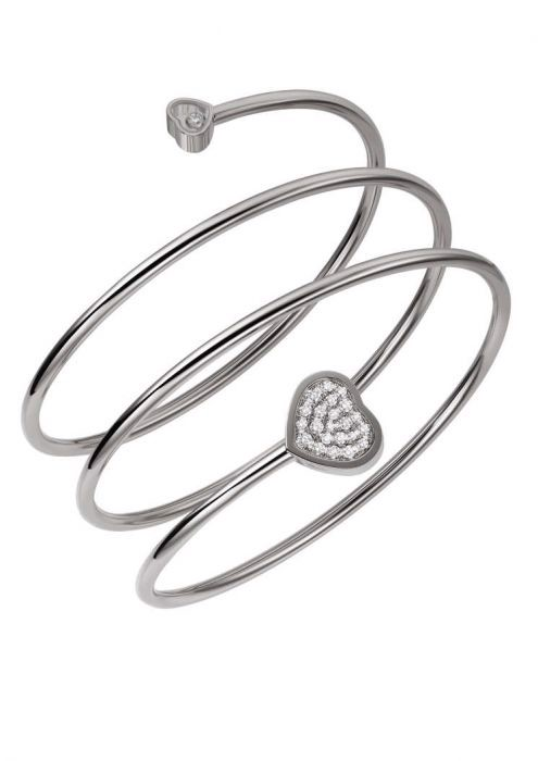 Chopard Happy Heart Twist Bangle White Gold Diamond