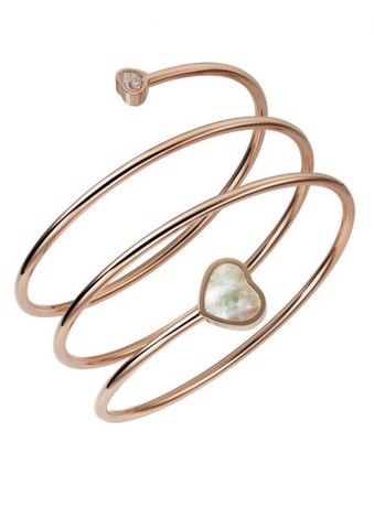 Chopard Happy Heart Twist Bangle Rose Gold Diamond - Mother-of-pearl
