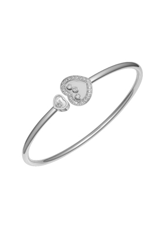 Chopard Happy Diamonds Icons Heart Bangle White Gold Diamond