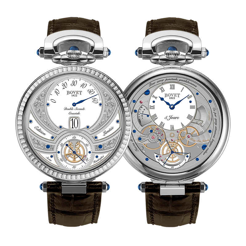 Bovet Fleurier Complications Virtuoso V White Gold White Dial Diamonds