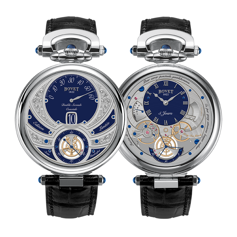 Bovet Fleurier Complications Virtuoso V White Gold Blue Dial