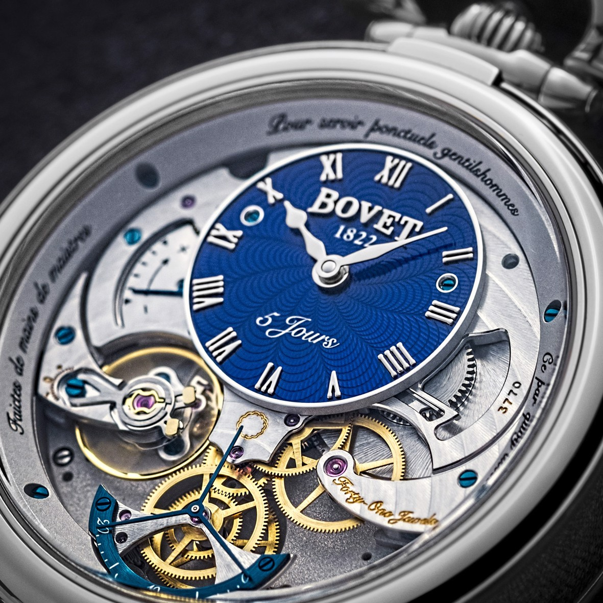 Bovet Fleurier Complications Virtuoso V White Gold Blue guilloché Dial