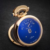 Bovet Fleurier Complications Virtuoso V Rose Gold Blue guilloché Dial