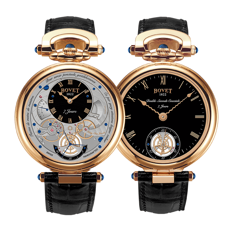 Bovet Amadeo® Fleurier Complications Monsieur BOVET Rose Gold Black Dial 43mm