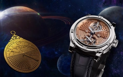 Đồng hồ nam Louis Moinet Astrolabe Tourbillon White Gold 47mm