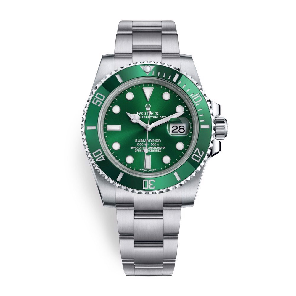 Pre-owned Rolex Submariner Date 40mm Stainless Steel Green 116610LV-0002