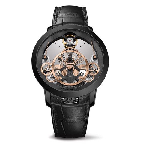 Arnold & Son Instrument Time Pyramid Steel Black Limited Edition 44.6mm