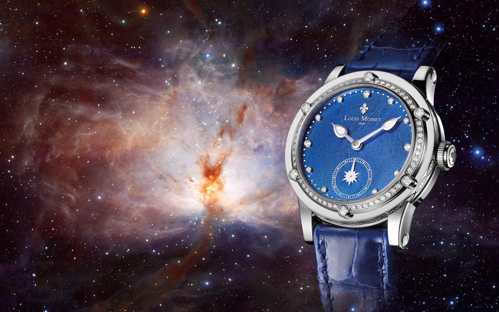 Đồng hồ nữ Louis Moinet Skydance Magic Blue Bezel set with Diamonds 36mm
