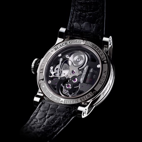 Đồng hồ nam Louis Moinet Black Gold Derrick Tourbillon 45.4mm