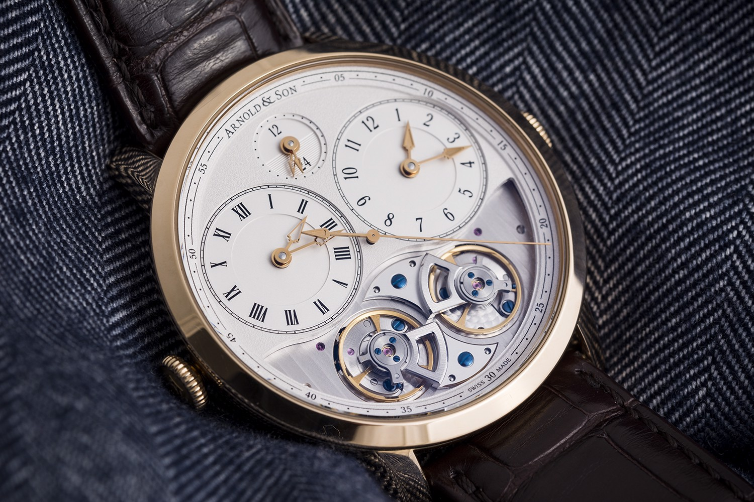Arnold & Son Instrument DBG Equation GMT Rose Gold