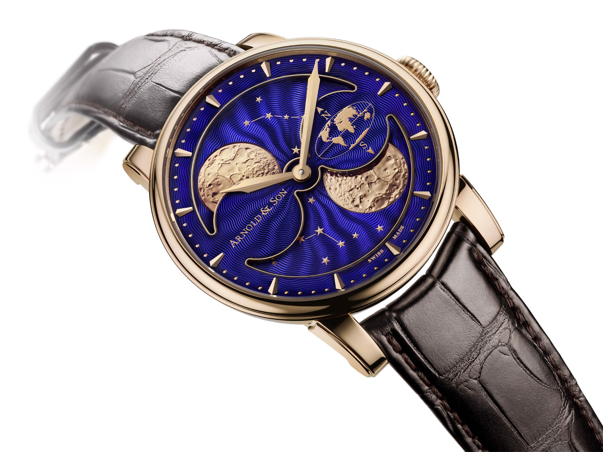 Arnold & Son Royal HM Double Hemisphere Perpetual Moon Rose Gold