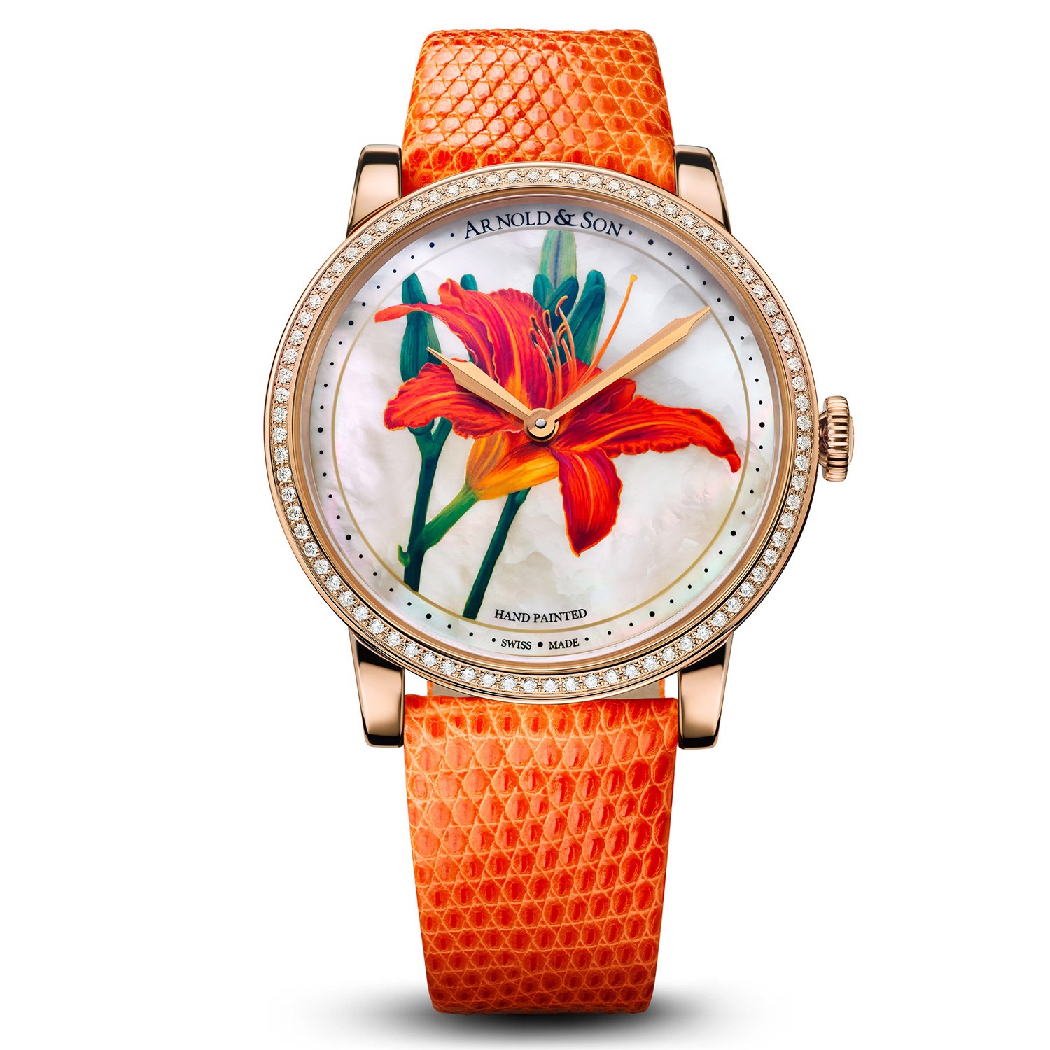 Arnold & Son Royal HM Flowers Orange Lily 40mm