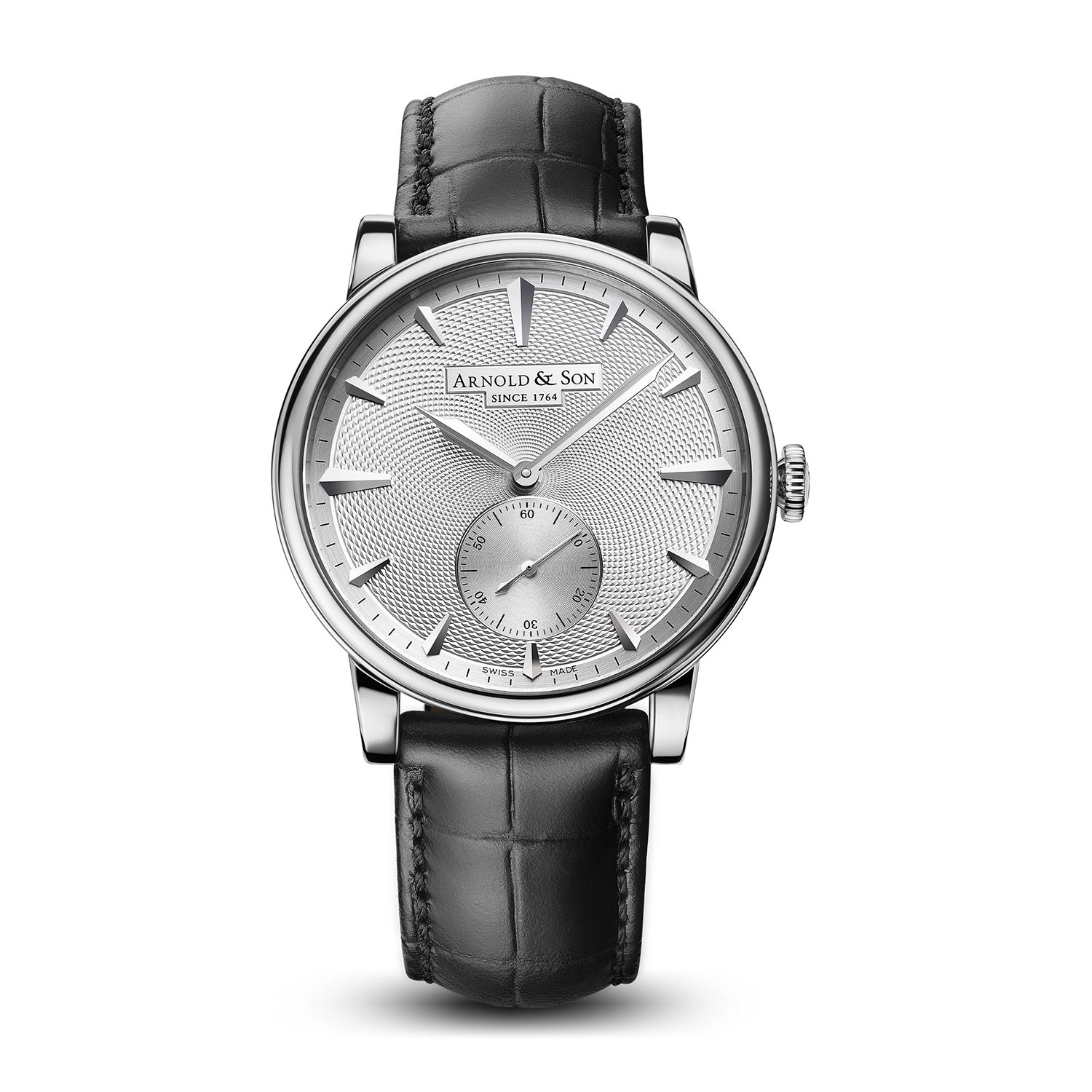 Arnold & Son Royal HMS1 White Gold Silver Guilloché Dial