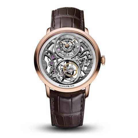 Arnold & Son Instrument UTTE Skeleton Tourbillon Rose Gold