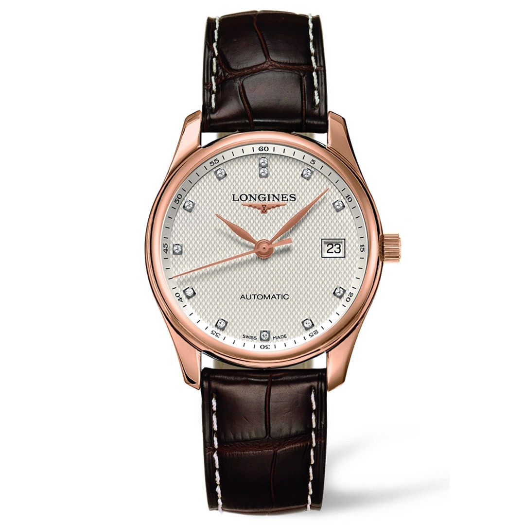 Đồng hồ nam Longines Master Automatic 18k Rose Gold Watch 36mm