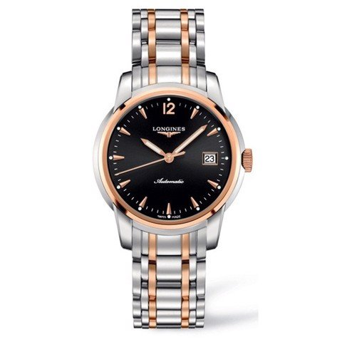 Đồng hồ nam Longines Saint Imier Bezel 18k Rose Gold Bracelet Watch 38.5mm