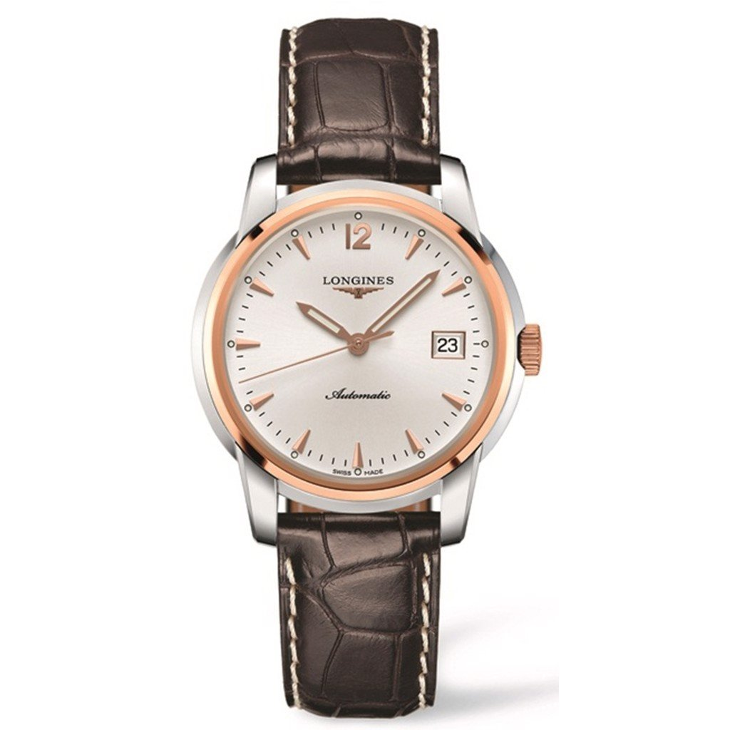Đồng hồ nam Longines Saint Imier Bezel 18k Rose Gold Watch 38.5mm