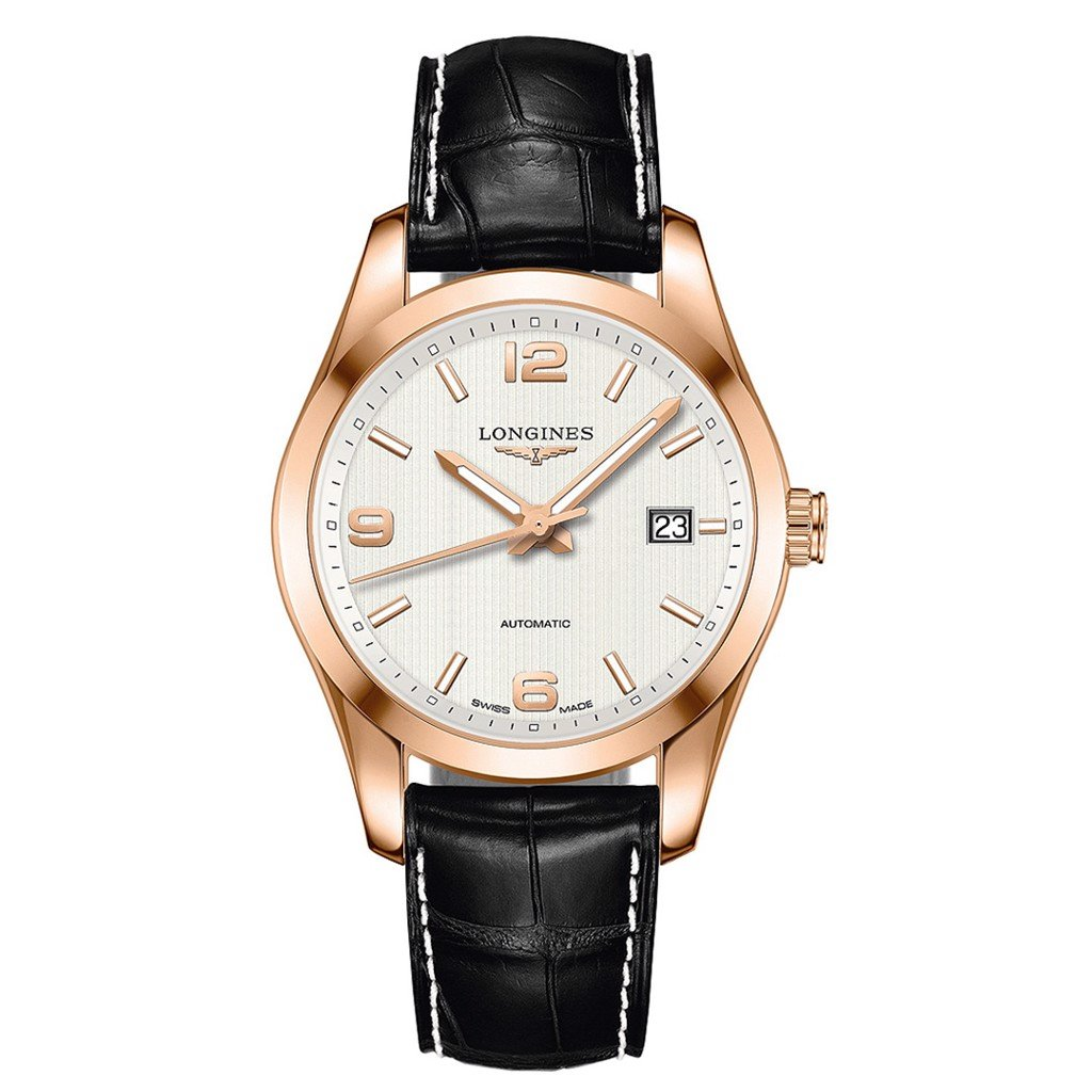 Đồng hồ nam Longines Conquest Classic 18k Rose Gold Watch 40mm
