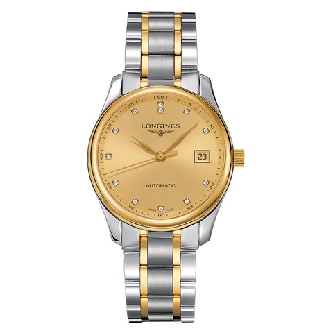 Đồng hồ nam Longines Master Automatic Demi 18k Yellow Gold Watch 36mm